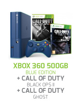 CONSOLA-XBOX-360-500GB-BLUE-EDITION-+-CALL-OF-DUTY-BLACK-OPS-II-&-GHOST